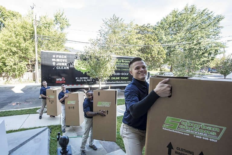 suburban solutions bringing in moving boxes