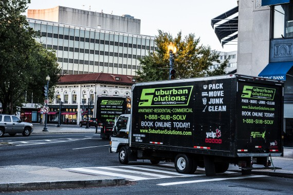Suburban Solutions washington DC movers truck