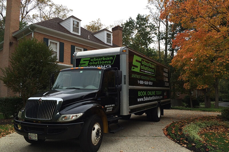 At Suburban Solutions, we are a full service moving company, we provide the truck and the labor and years of experience to make your move stress free. Here is one of our trucks!
