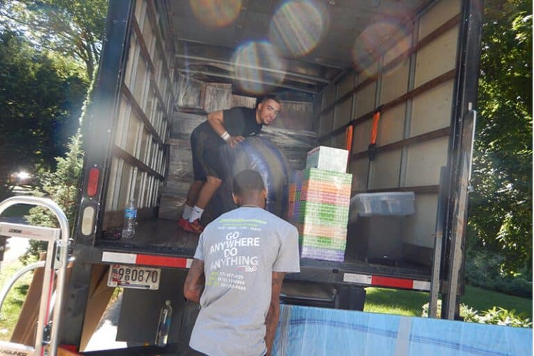 Suburban Solutions' crew in local moving action