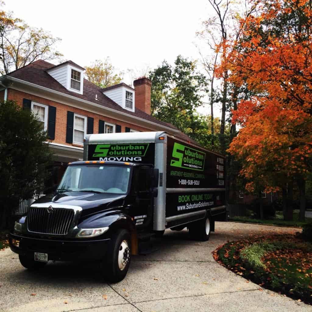 Two Men and a Truck in front of our Havertown Office | Suburban Solutions - Philadelphia, PA