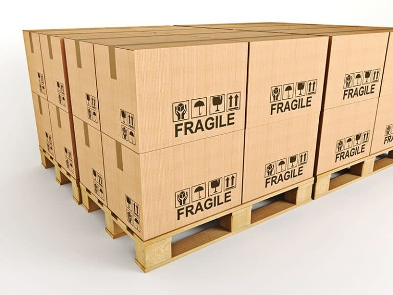 Items prepared for palletized shipping