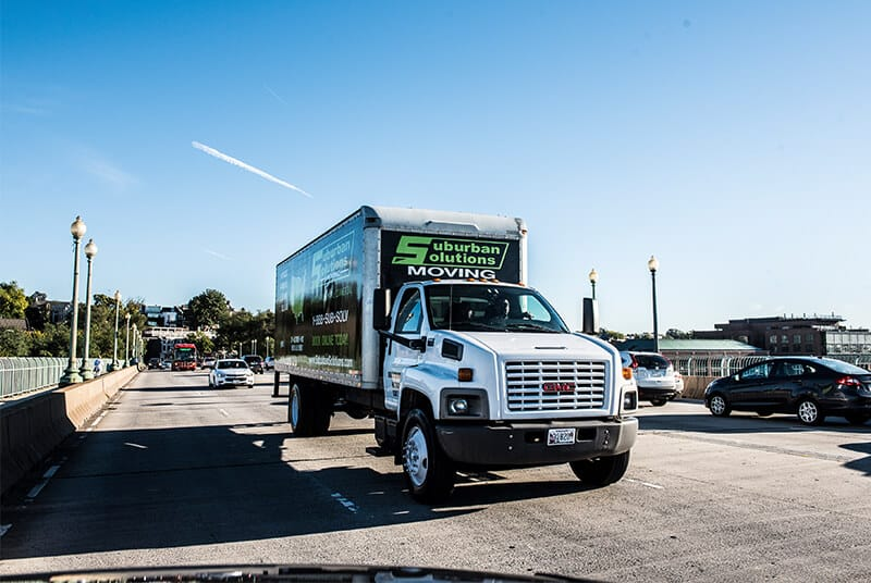 One of Suburban Solutions' junk removal trucks