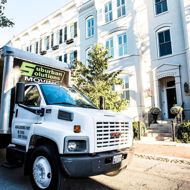 Suburban Solutions' local moving truck