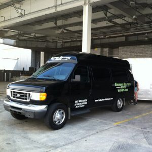 Suburban Solutions' van fully prepared for commercial moving