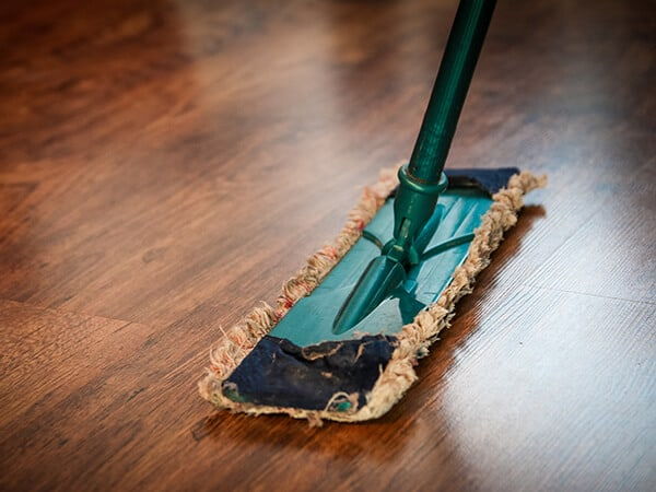 Cleaning process conducted by Suburban Solutions' professional maids who can also clean your carpet and upholstery, tiles and grout and even extract water-damaged flooring