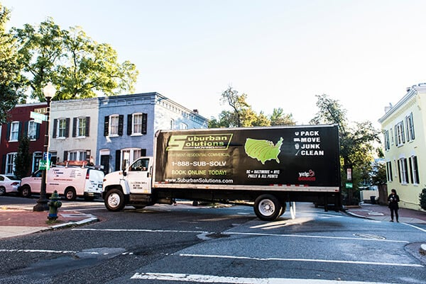 Suburban Solutions' moving truck available for your rental at great rates, with all the moving supplies you'll ever need