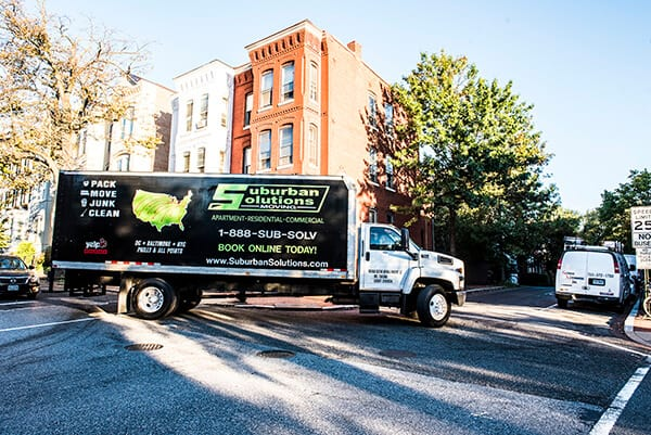 Suburban Solutions' moving truck, waiting for you call