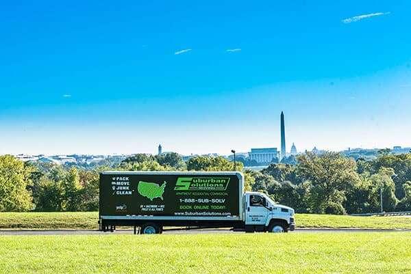 Suburban Solutions' moving truck - Washington D.C. panorama