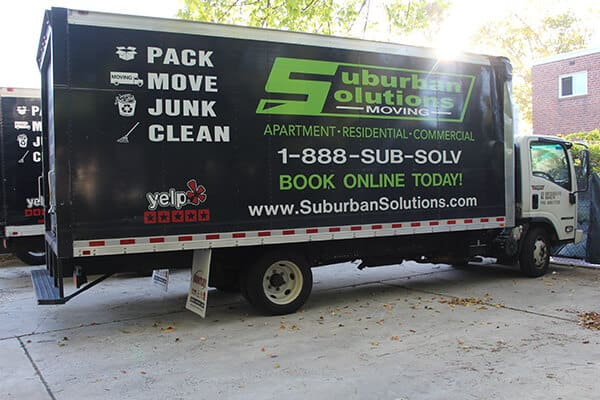 Suburban Solutions' moving truck ready for you call