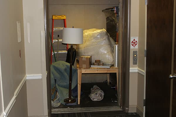 A cluttered room - a perfect opportunity for our junk removal crew
