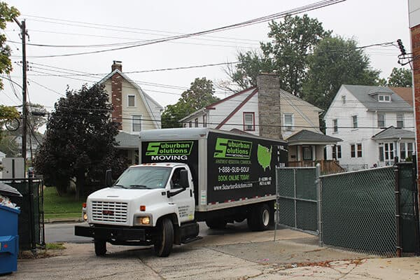 Suburban Solutions' moving truck for specialty services