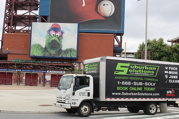 Suburban Solutions' Philadelphia moving truck on the move