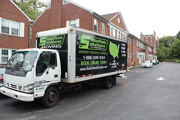 Suburban Solutions' Philadelphia moving truck with all the moving supplies you need