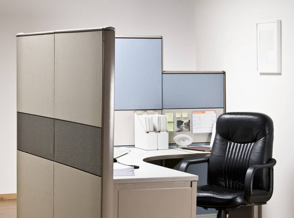 cubicle install, executive desk install, commercial moving