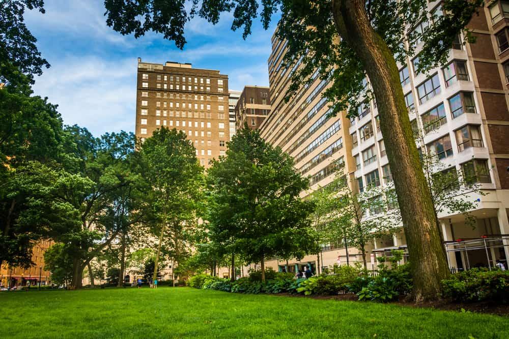 The community of Rittenhouse Square in Philadelphia