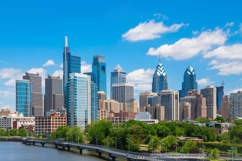 Skyline of downtown Philadelphia, PA