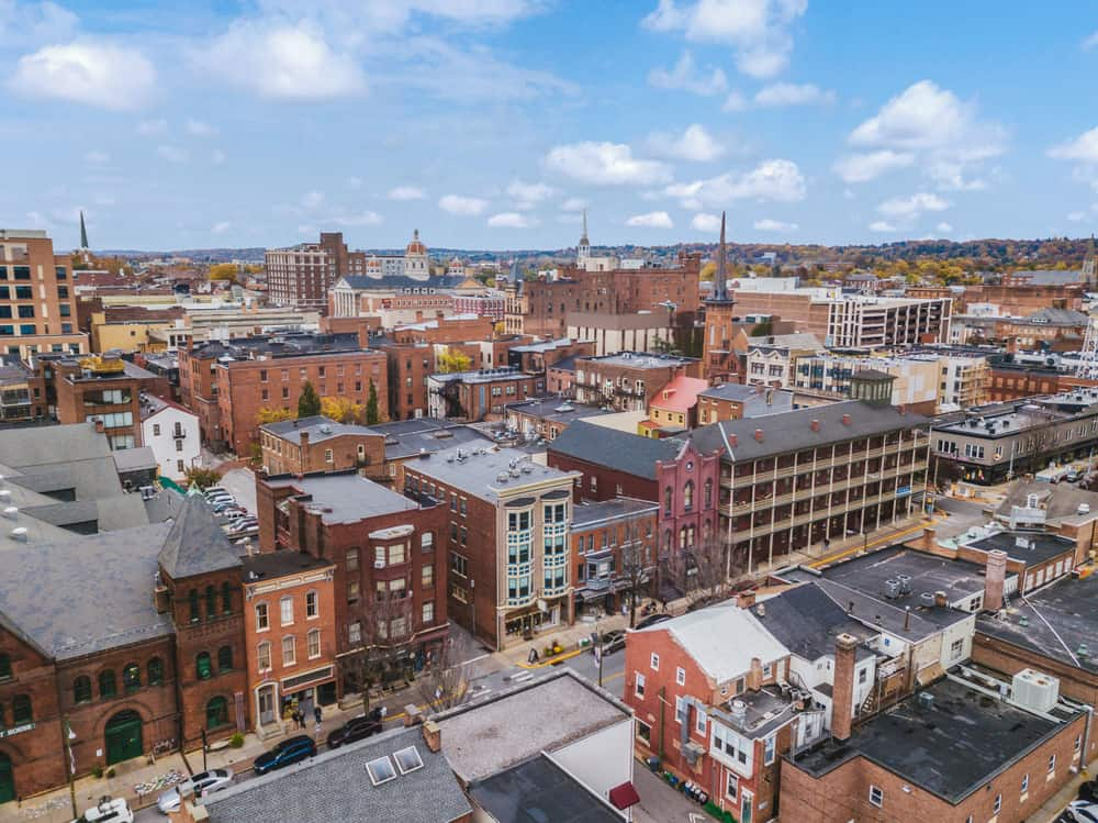 View of downtown York, PA